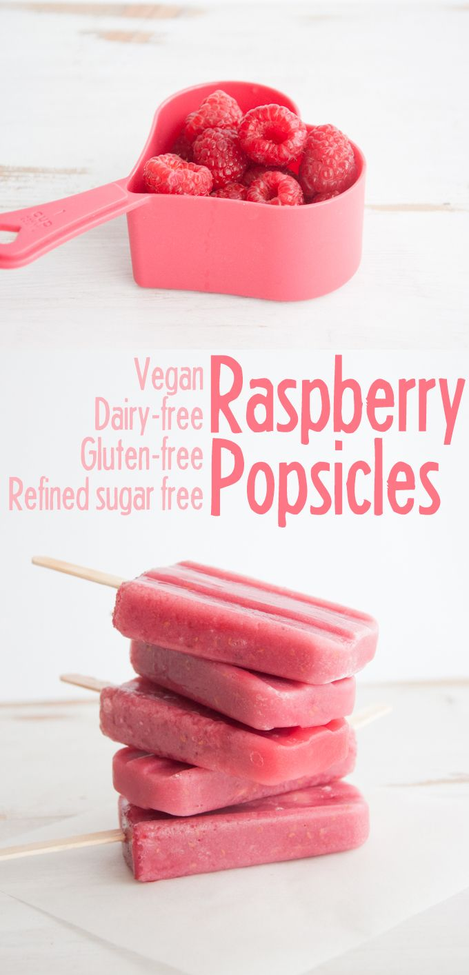Vegan Raspberry Popsicles | ElephantasticVegan.com