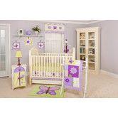 Found it at Wayfair - Lavender Butterfly 10 Piece Crib Bedding Set