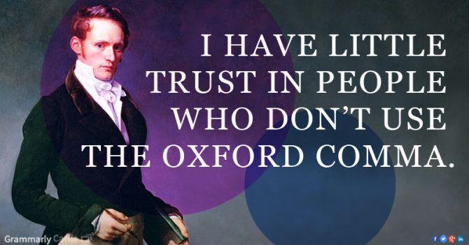 What is the Oxford comma and why do people care so much about it? Yay Oxford comma!