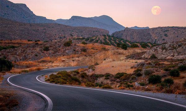 Suton nad planinskim delom Krita