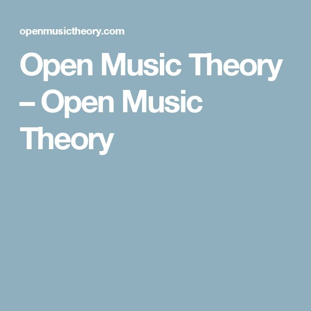 Open Music Theory – Open Music Theory