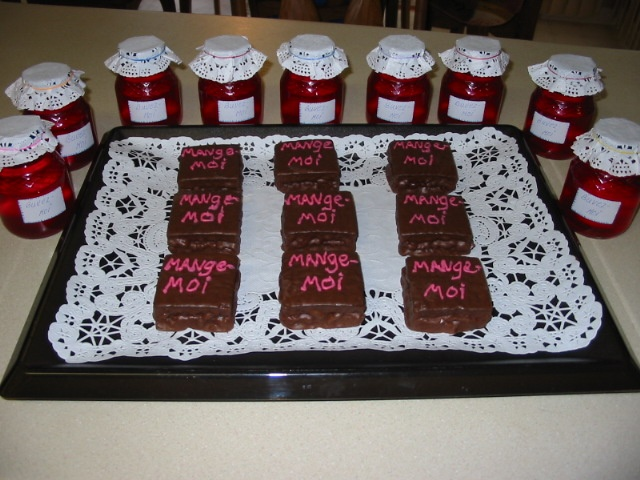 """Alice in Wonderland - Mini square chocolate cakes that say """"Eat me!"""" and red cool-aid drinks (in baby food jars) that say: """"Drink me!"""" My mom made these for my birthday when I was a toddler! :)"""