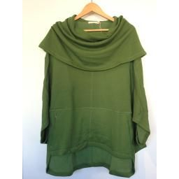 """""""KRIS"""" Cowl Fleece Capelet, Loden: Bamboo and organic cotton- large cowl can be worn as a hood!"""