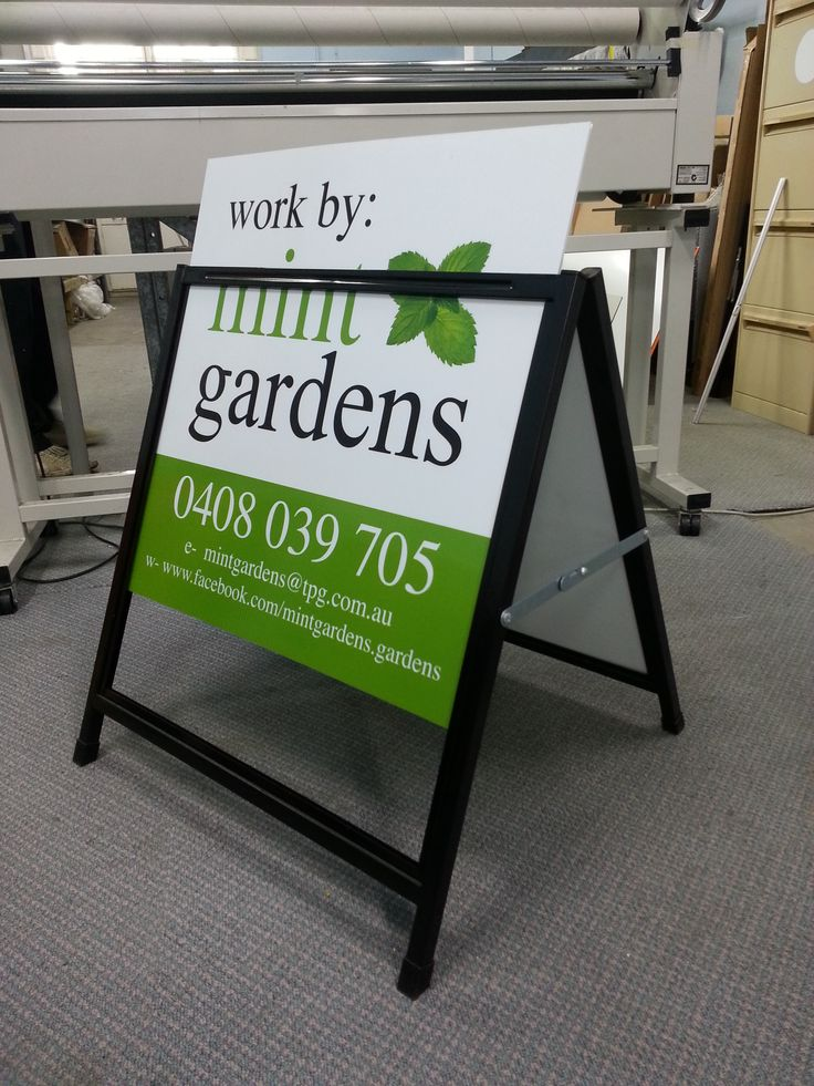 AFrame installed and printed by Sign A Rama Box Hill for Mint Gardens.
