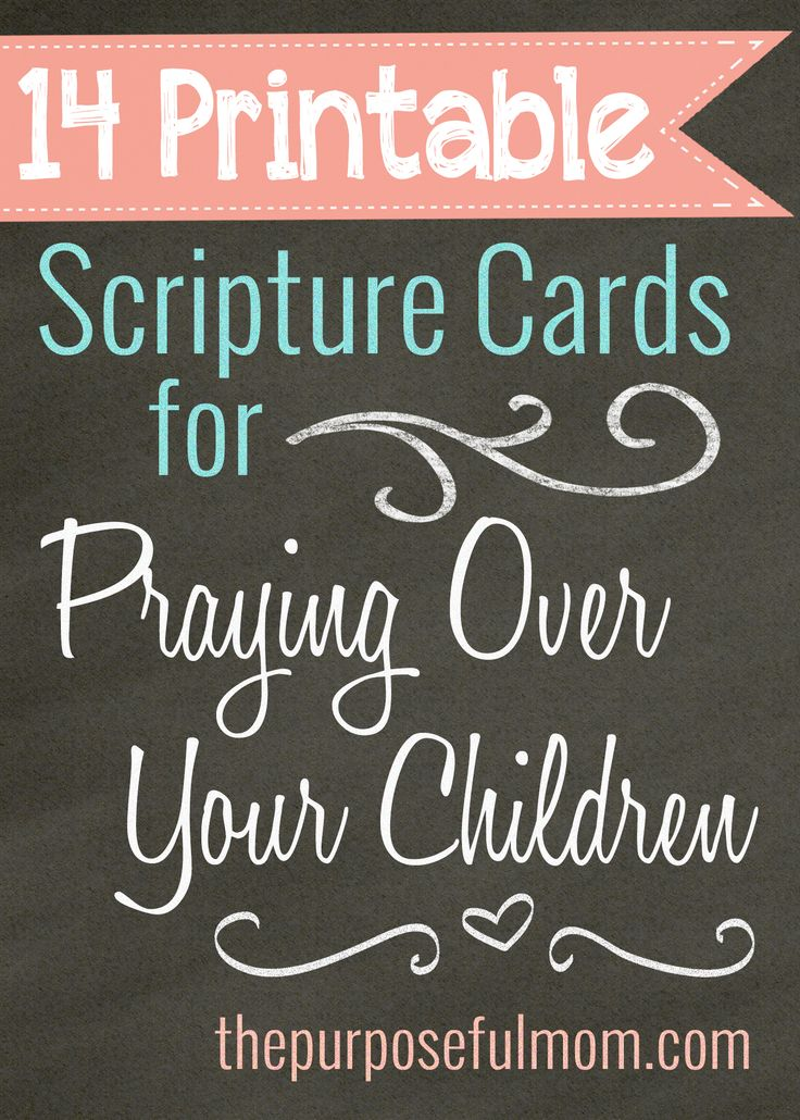14 beautiful, free printable Scripture cards for praying over your unborn baby and other children!