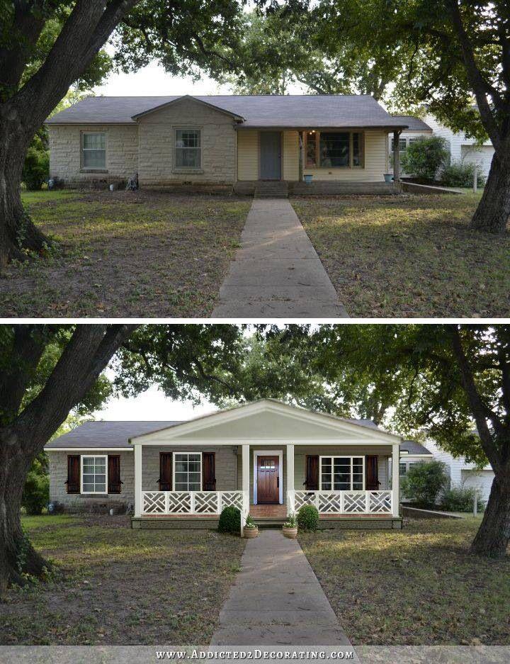 Front Porch Remodel Porch Remodel Front Porch Addition: Home Exterior Makeover, Ranch House Remodel, Front Porch Addition