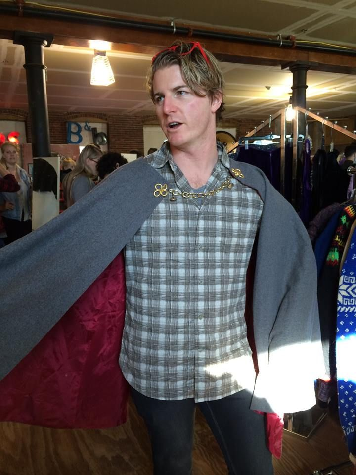 Patrick in a vintage cape still available at Wish List Consignment for Halloween or for everyday. SoWa Vintage Market Sundays or by appointment at The Hanover Mall.