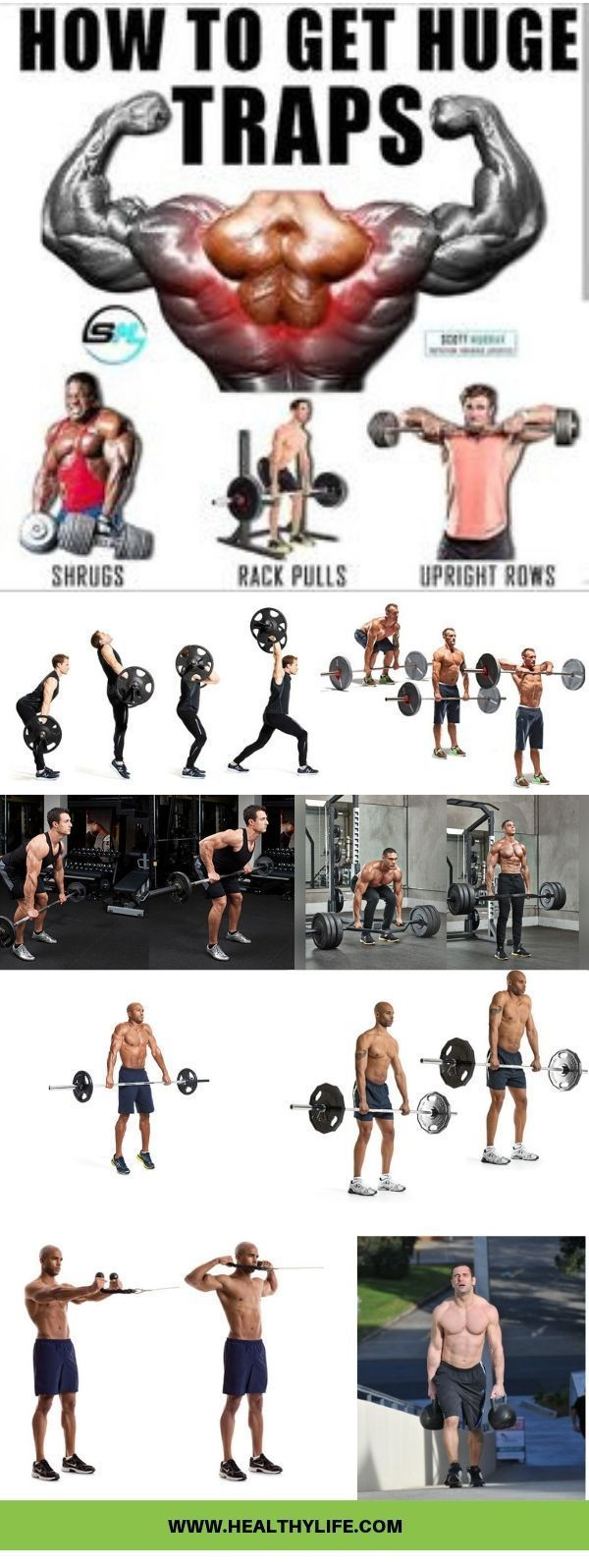 8 Trap Workouts For Men At The Gym For Bodybuilding Traps Workout Shoulder And Trap Workout Best Gym Workout