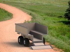 The ATV utility trailer plan was designed using common to purchase steel angle iron and tubing and the trailer will carry all the loads you can throw at…
