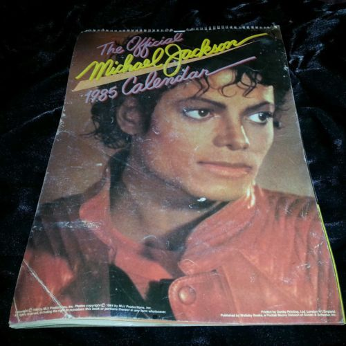 Michael Jackson 1985: Michael Jackson Poster Calendar From 1985 With Pins