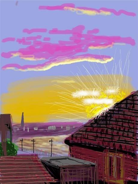 David Hockney's iPad art: David Hockney explains why the iPhone and iPad inspire him. 2010 - uses Brushes App. Flowers/Landscapes