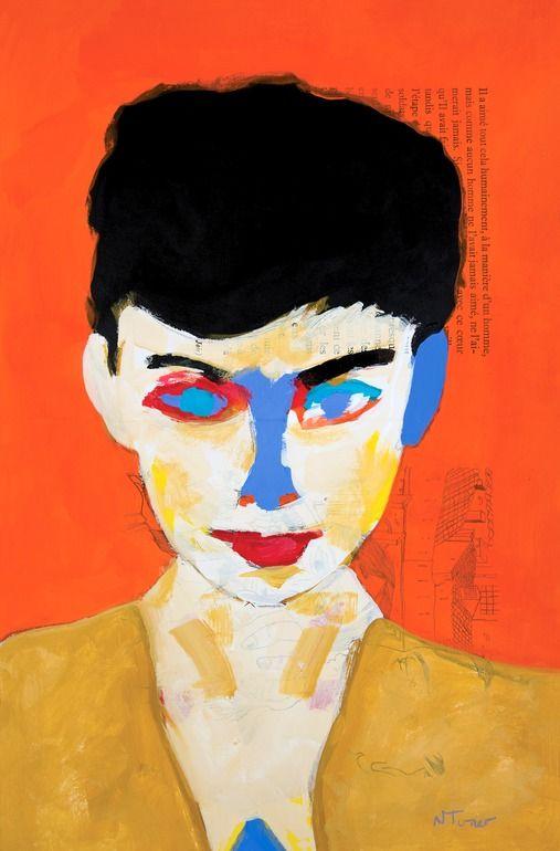 "Neal Turner; Acrylic 2014 Painting ""Audrey Hepburn"""