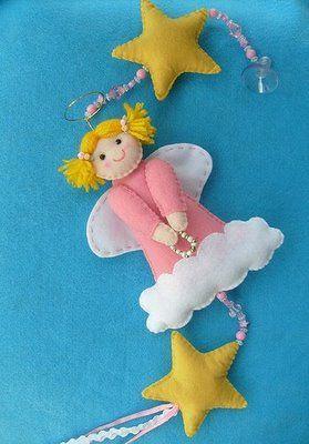 felt/bead angel mobile