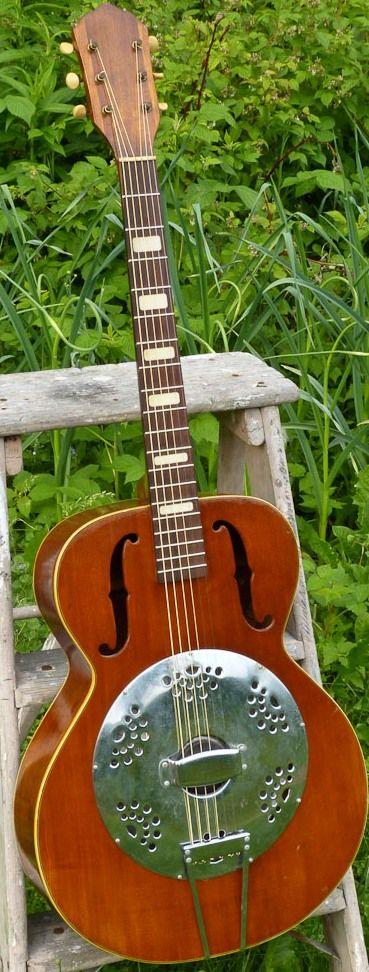 1950s Kay K90 (National Cone) Resonator Guitar  #LardysChordophoneOfTheDay #Guitar ~ https://www.pinterest.com/lardyfatboy/lardys-other-fretted-chordophones-of-the-day/ ~ http://antebelluminstruments.blogspot.co.uk/2015/06/1950s-kay-k90-national-cone-resonator.html?utm_source=feedburner&utm_medium=email&utm_campaign=Feed:+AntebellumInstruments+(Antebellum+Instruments)