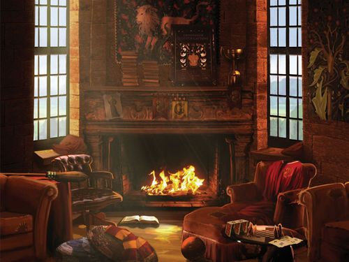 Gryffindor common room (harry potter,hermione granger,ron weasly,emma watson,daniel radcliffe,rupert grint,hogwarts,gryffindor,common room,hogwarts)