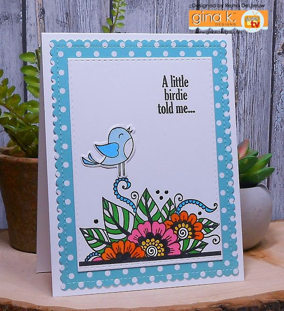 Nice Card Making Ideas Gina K Part - 10: Paper Panache: Gina K Designs U2013 StampTV Kit Inspiration Blog Hop U2013 Day 2.  Greeting Cards ...