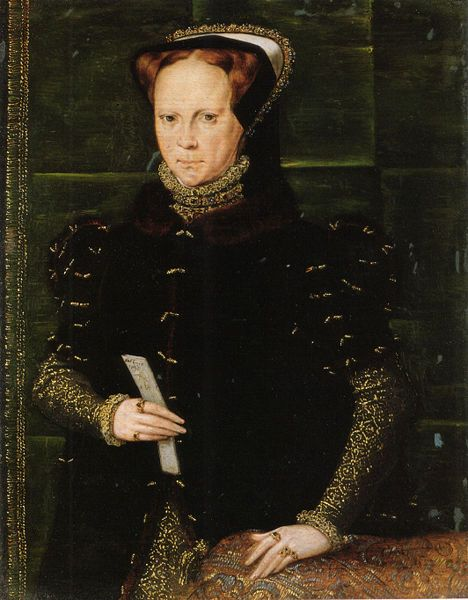 """Mary was the only child of Henry VIII and Catherine of Aragon to live past infancy. Crowned after the death of Edward VI and the removal of The Nine Days Queen-Lady Jane Grey, Mary is chiefly remembered for temporarily and violently returning England to Catholicism. Many prominent Protestants were executed for their beliefs leading to the moniker """"Bloody Mary"""". Fearing the gallows a further 800 Protestants left the country, unable to return until her death. It should be noted that Elizabeth…"""
