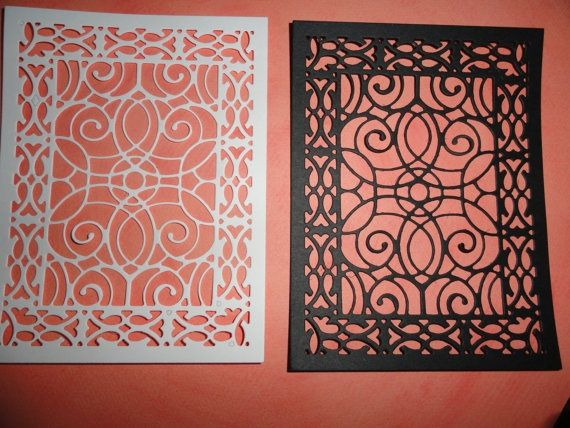 Lace Die Cut Cardstock Cathedral Lace Frame Set Of 8