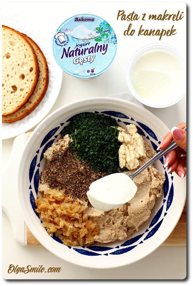 Pasta z makreli do kanapek z jogurtem Naturalnym Gęstym Bakoma  Dzisiaj u mnie na blogu idealna wprost w smaku pasta z makreli do kanapek z jogurtem Naturalnym Gęstym Bakoma. Przygotowałam ją z przyjemnością, ponieważ w moim