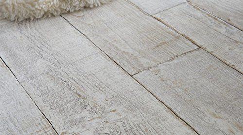 Gerflor PRIMETEX - Playa White 1193 PVC Linoleum Rolle, Fußbodenbelag, PVC Vinyl Bodenbeläge - Holzdekor - Breite 4m
