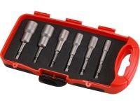"""Magnetické hlavice nástrčné  so 6-hrannou stopkou 1/4"""", sada 6ks, 6-13mm"""