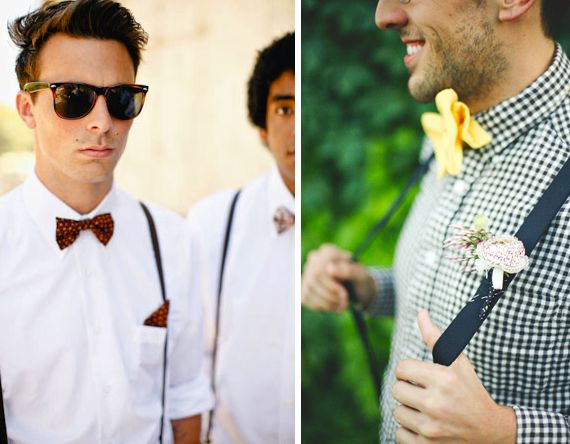 Wedding Trend: Groomsmen in suspenders