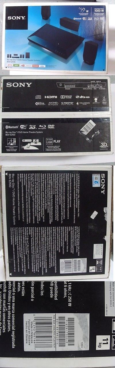 Home Theater Systems: Sony Dvd Home Theater System Bdv-E2100 BUY IT NOW ONLY: $204.89