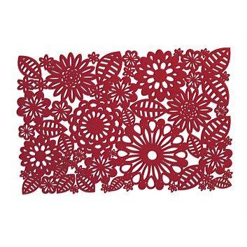 Briscoes - Jason Red Floral Felt Placemat