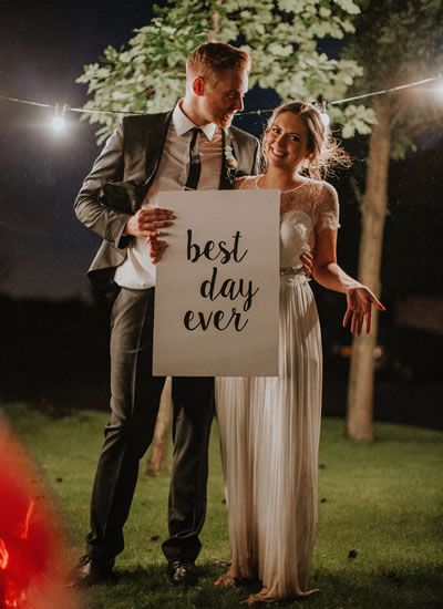 This creative couple took a totally natural approach to their DIY wedding full blush and grey decor details made by the bride herself!