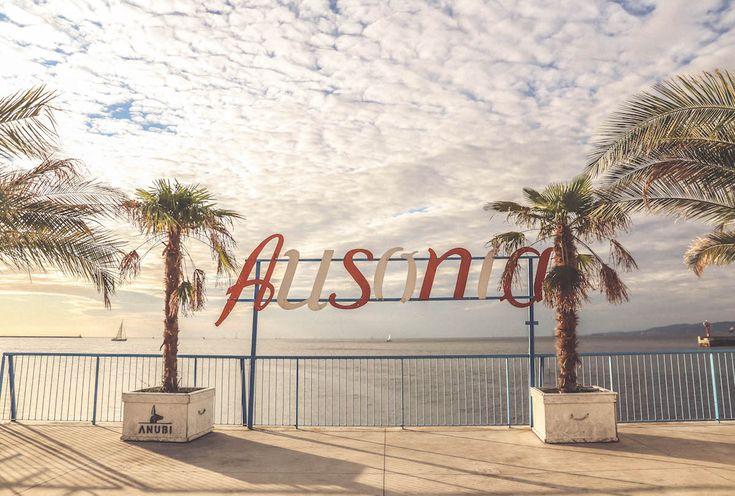 Ausonia Trieste sign sky travel