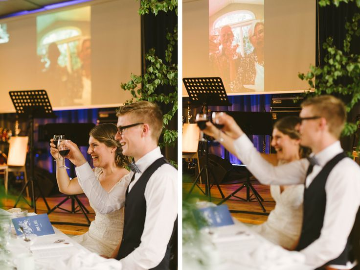 When the bride´s grandparents couldn't make it to the wedding they set up a skype call so that the bride and groom could have a toast with them. Julia Lillqvist | Emma and Joel | sommarbröllop Jakobstad | http://julialillqvist.com