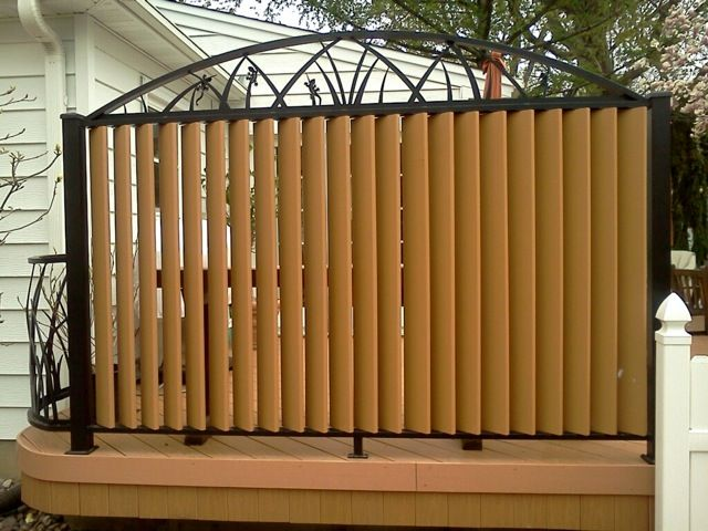 68 best deck ideas images on pinterest balconies decks for Deck privacy screen panels