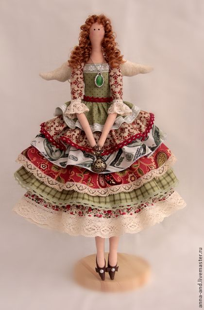 Tilda bonecas artesanais.  Mestres Fair - handmade.  Comprar renda Angel (baseado).  Handmade.  Dinheiro verde