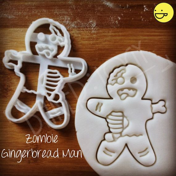 Zombie Gingerbread Man cookies cutters | biscuits cutter | one of a kind ooak Christmas Xmas party zombies