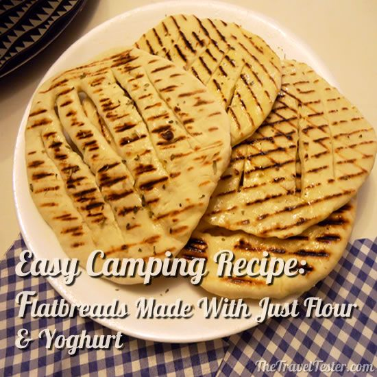 Camping Recipe / Travel Recipes - Easy Flatbreads | The Travel Tester