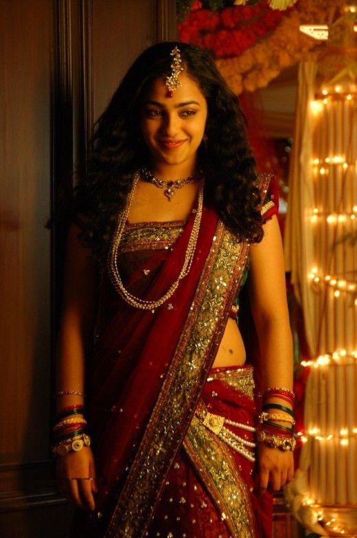 Nitya Menon Saree Stills