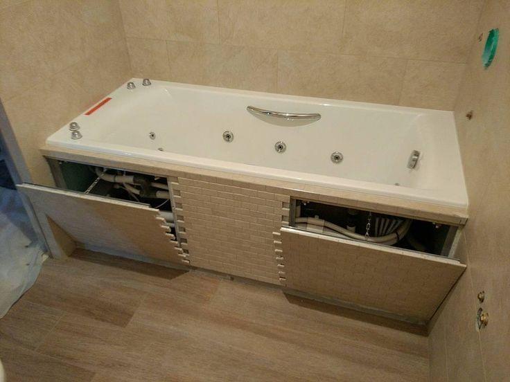 830 отметок «Нравится», 26 комментариев — Укладка плитки в деталях (@instabur.pro) в Instagram: «Экран ванны из керамогранитной мозаики с двумя съемными ревизионными люками. Объект…»