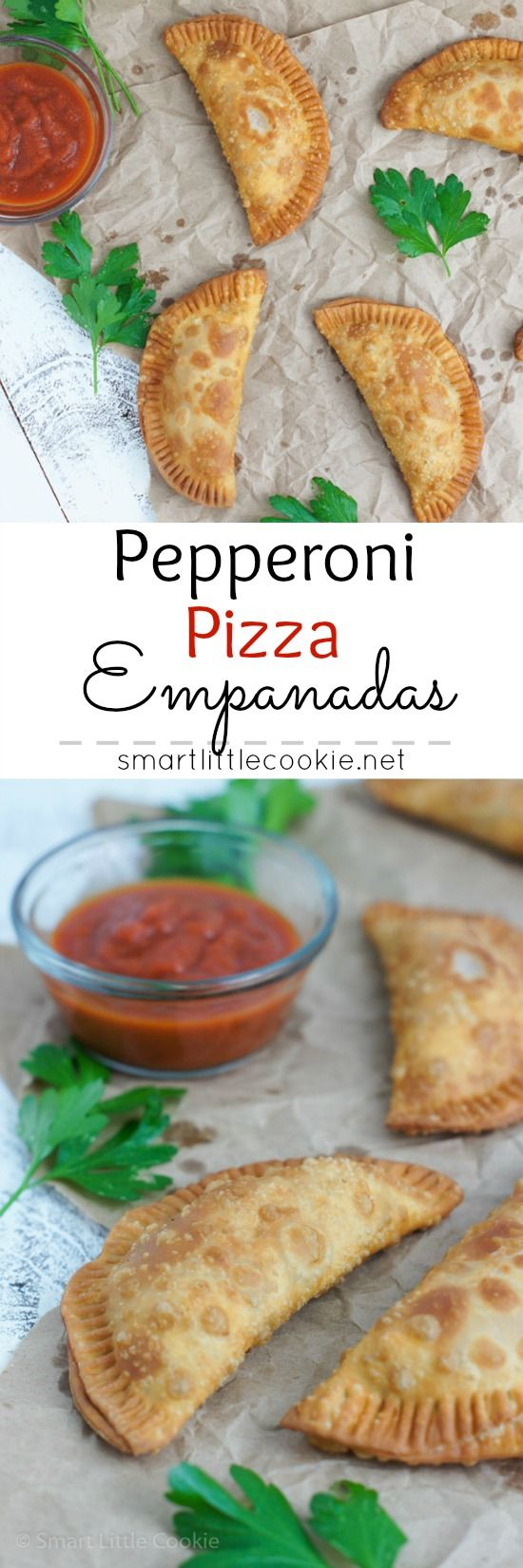 Pepperoni Pizza Empanadas ~ Crunchy on the outside, cheesy and gooey on the inside. The perfect snack or appetizer for any occasion. #GameTimeClean #ad