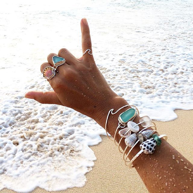 Handcrafted beach style jewelry, made with love on the North Shore of Oahu!!