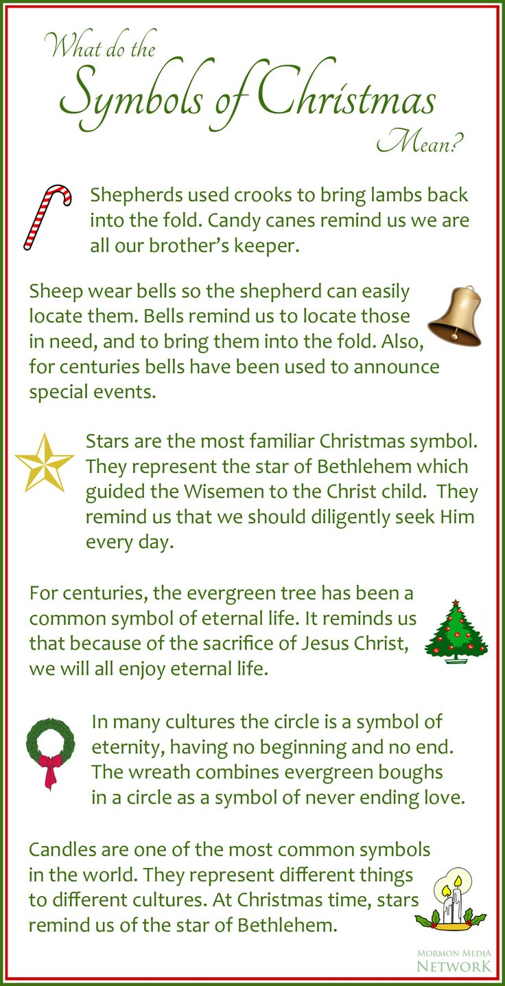 What do the symbols of Christmas mean?