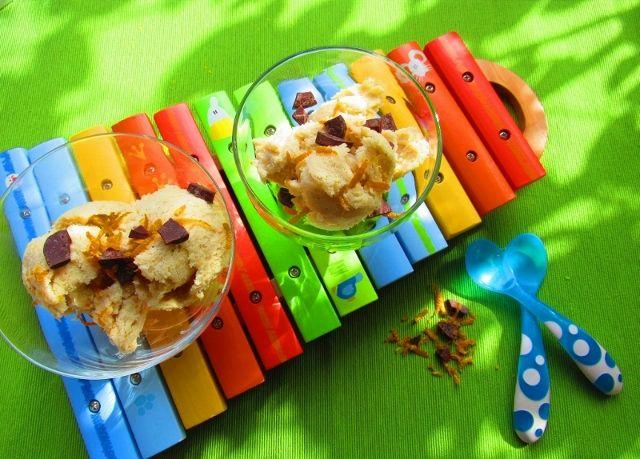 Σπιτικό παγωτό μπανάνα πορτοκάλι, συνταγές για χορτοφάγους χωρίς γλουτένη
