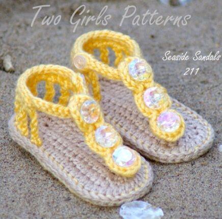 En crochet, zapatitos y sandalias para bebé > Minimoda.es