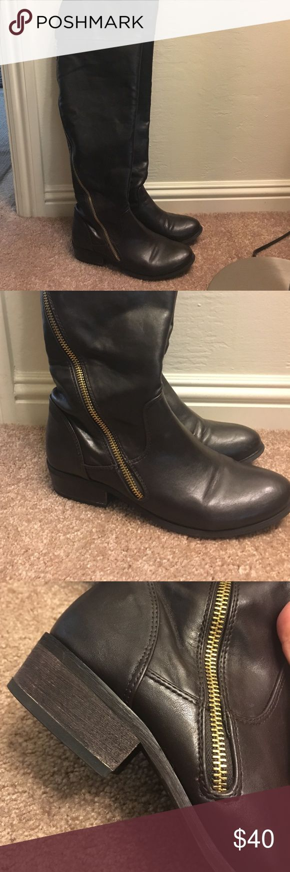 Tall boots Report dark brown tall boots, used just a couple times, very good condition Report Shoes Over the Knee Boots