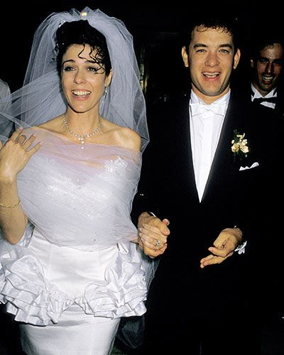 Oh, how far style has come... Rita Wilson and Tom Hank's wedding in 1988