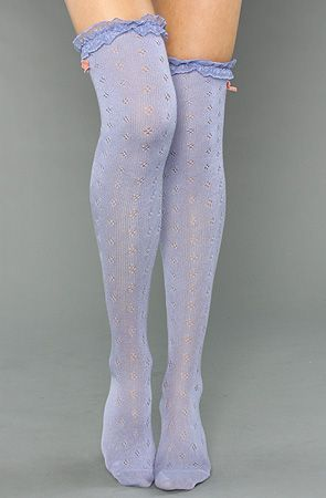 Periwinkle Thigh High Stockings #SephoraColorWash