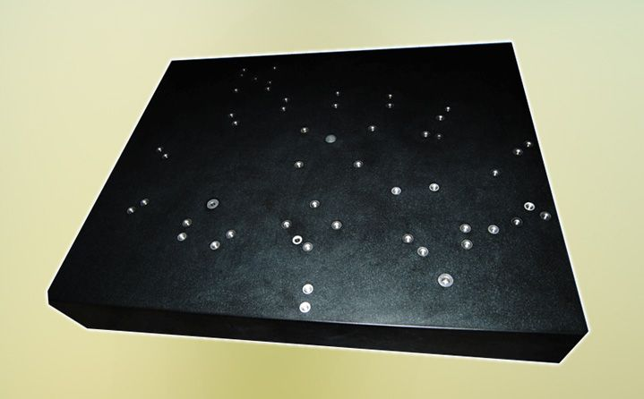 FINE PITCH ACCURACY GRANITE BASE. Size - 2000x1600x300 mm. Pitch accuracy 25 micrometer.