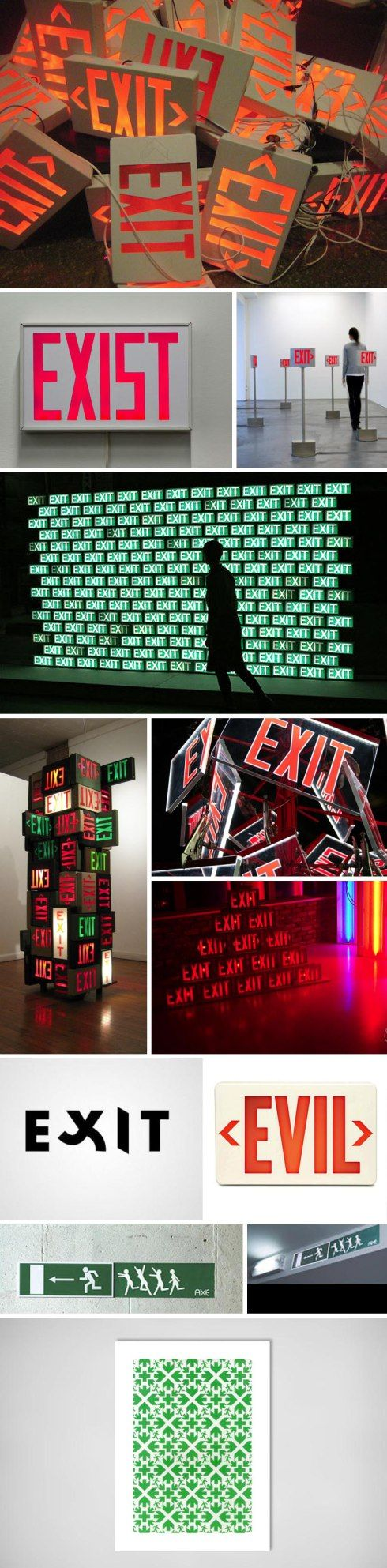 Sculpture and installations that use Exit signs, Exit Signs as Art