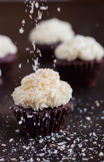 Modern Taste: Mocha Coconut Cupcakes   Cupcakes and muffins   Pintere ...