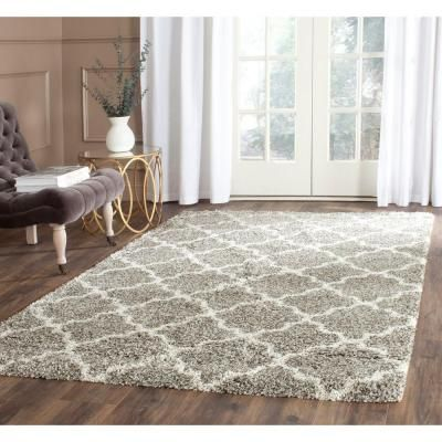 safavieh hudson shag greyivory 4 ft x 6 ft area rug california shag black 4 ft