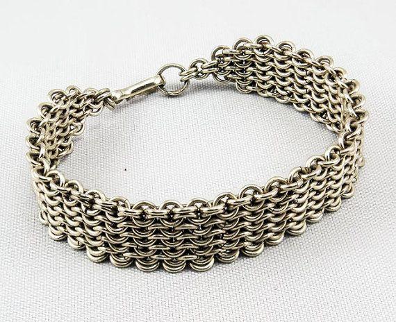"Cotte de maille Nickel Silver Bracelet - ""Culebra bay Bracelet""  $85.00"